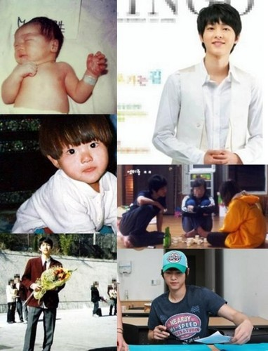 Song Joong Ki's childhood foto's