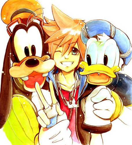 Sora, Donald amd Goofy