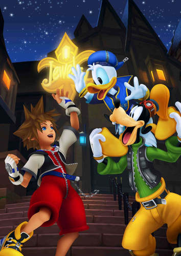 Kingdom Hearts Обои called Sora, Donald and Goofy