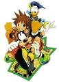 Sora, Donald and Goofy