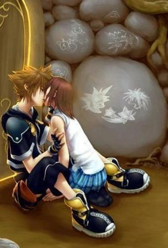 Kairi & Sora wallpaper probably with a meteorological balloon entitled Sora and Kairi