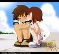 Sora and Kairi - kingdom-hearts fan art