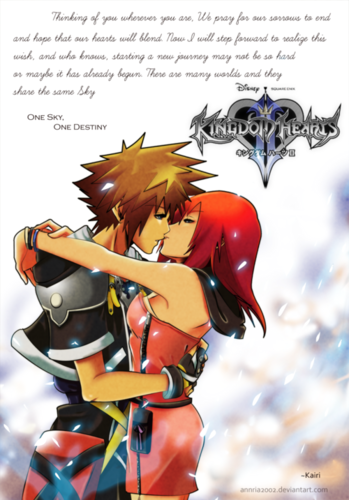 kingdom hearts wallpaper entitled Sora and Kairi