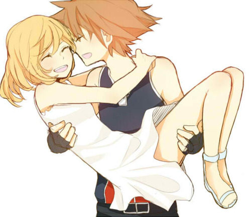 kingdom hearts fondo de pantalla with anime titled Sora and Namine