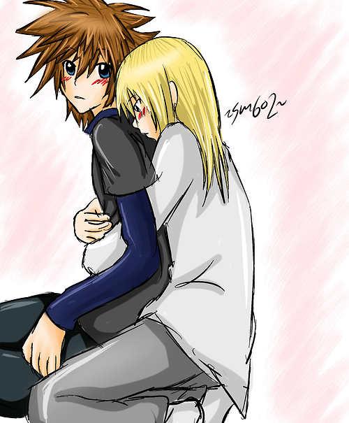Sora and Namine