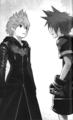Sora and Roxas in DDD - kingdom-hearts fan art