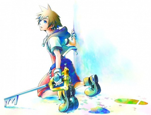 Kingdom Hearts wallpaper probably containing a tricycle called Sora