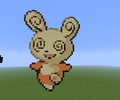 Spinda - minecraft-pixel-art fan art