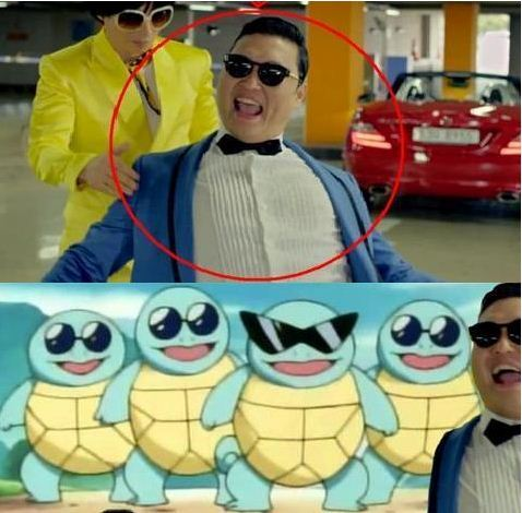 Squirtle Squad has Gangnam Style