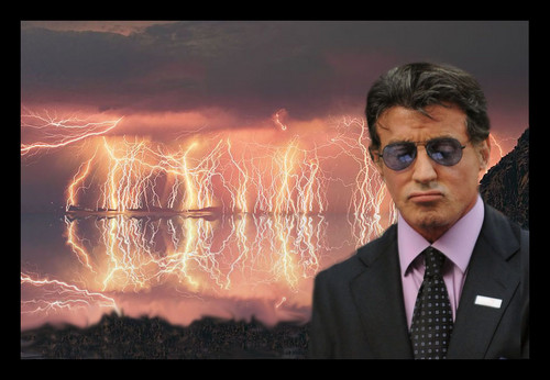 Sylvester Stallone wallpaper containing a business suit titled Sylvester Stallone vacation on island on pain