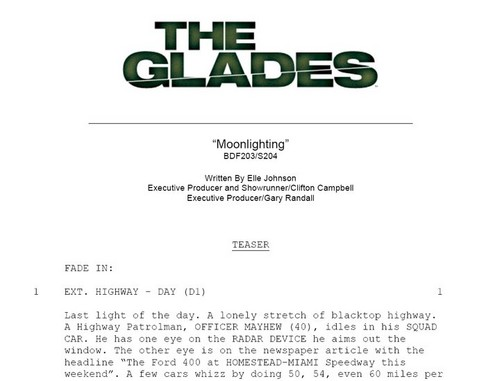 The Glades Episode Script