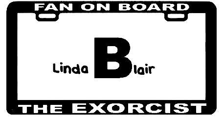 The Linda Blair license plate