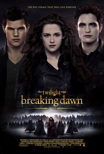 映画 壁紙 containing アニメ called The Twilight Saga: Breaking Dawn Part 2 Poster