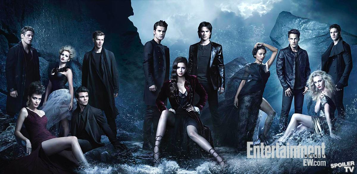 &; elena the vire diaries - season 4 - new cast promotional photo