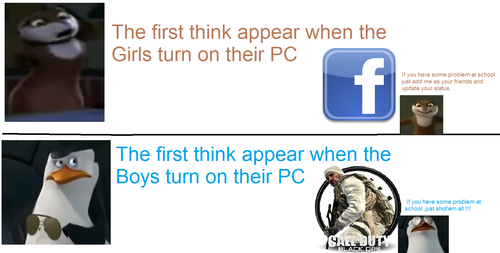The first think appear when wewe turn on your PC