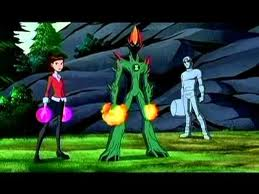 Ben 10: Ultimate Alien achtergrond possibly with a hekje, wicket and anime entitled The trio
