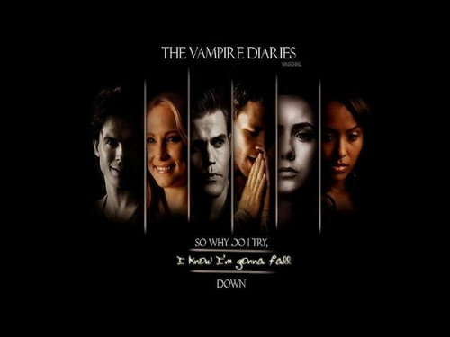 el diario de los vampiros fondo de pantalla possibly with a stained glass window and anime called TheVampire Diaries