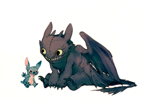 Toothless and stich