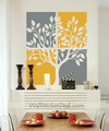 pokok Painting dinding Stickers