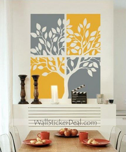 Tree Painting Wall Stickers