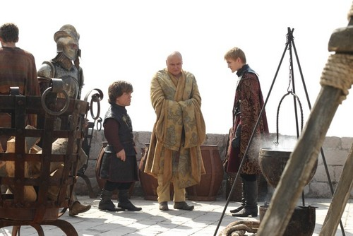 Joffrey, Tyrion & Varys