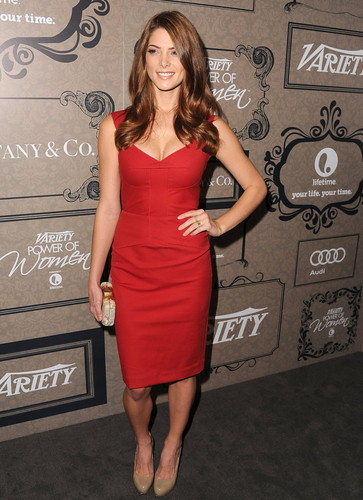 Ashley Greene kertas dinding probably with a koktel dress called Variety's 4th Annual Power Of Women Event Presented sejak Lifetime, Beverly Hills