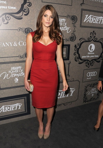 Ashley Greene wallpaper possibly containing a cocktail dress and a bustier titled Variety's 4th Annual Power Of Women Event Presented By Lifetime, Beverly Hills