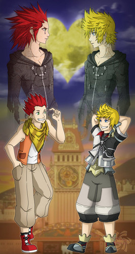 Kingdom Hearts wallpaper called Ven and Lea/ Roxas and Axel