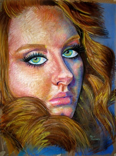 Vouge অ্যাডেলে Soft Pastel Portrait