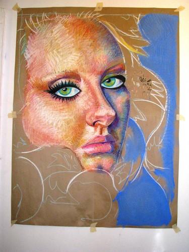 Vouge Adele Soft Pastel Portrait