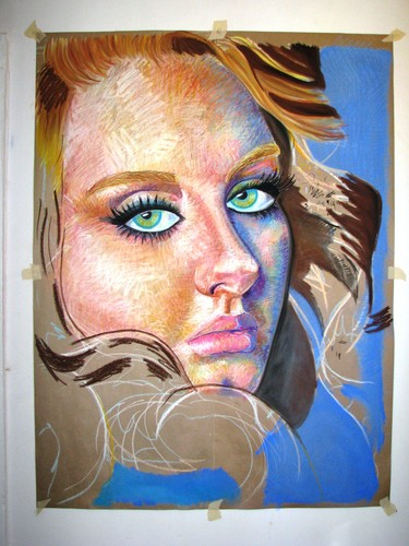 Adele Hintergrund called Vouge Adele Soft Pastel Portrait