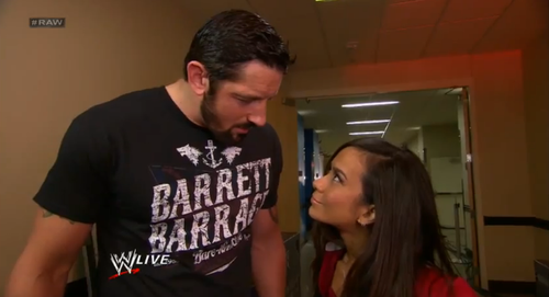 Wade Barrett wallpaper probably containing a portrait entitled Wade Barrett and AJ Lee
