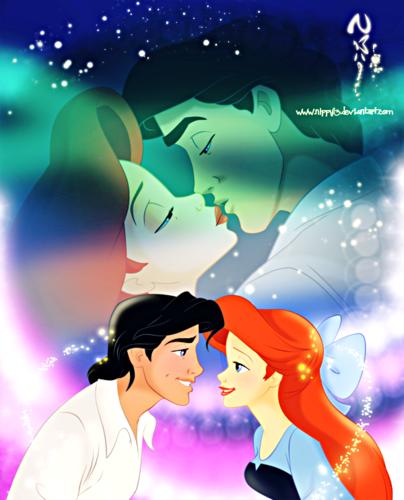 Walt Disney Fan Art - Princess Ariel & Prince Eric