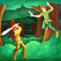 Walt ডিজনি অনুরাগী Art - Taran & Peter Pan