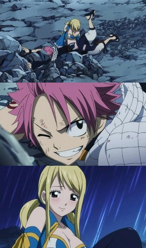 Why can't Natsu catch her in madami romantic way?-__-Still a great scene, though ♥