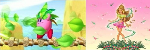 Winx Vs. Kirby! Nature Vs. Leaf!