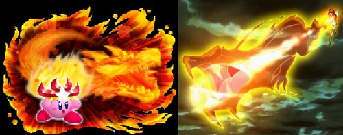 Winx club Vs. Kirby! Dragon Flame Vs. Monster Flame