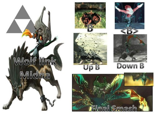 늑대 Link & Midna Possible moveset