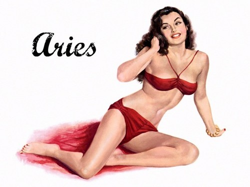 Pin Up Girls wallpaper probably containing attractiveness, a lingerie, and a brassiere titled Zodiac Pin Up Girls