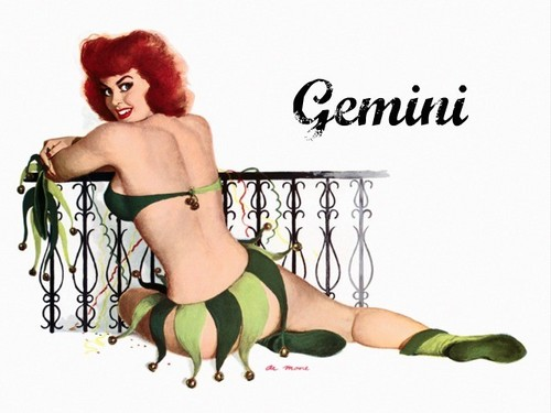 Pin Up Girls wallpaper probably with skin entitled Zodiac Pin Up Girls