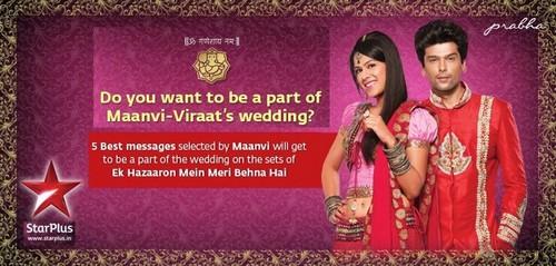 ek hazaaron mein behna hai wallpaper entitled adv. of maanvi & viraat wedding