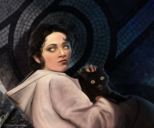 Arya Stark in the House of Black and White