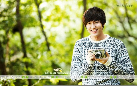 Lee Min Ho wallpaper probably with a portrait called calendar