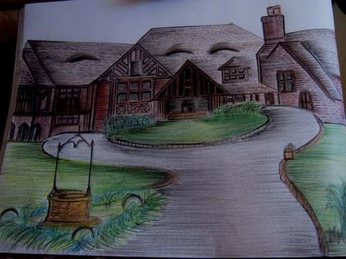 crayon painting of salvatore mansion