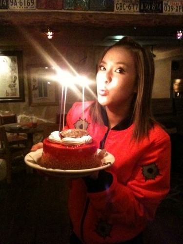 DARA 2NE1 wallpaper with a candle titled dara 2NE1 happy birthday