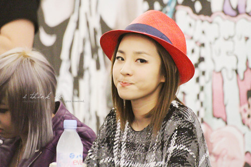 dara 2ne1 in red hat