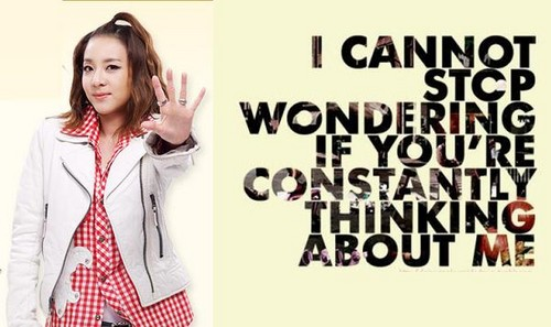 dara 2ne1 thinking about me