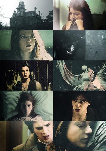 Au meme → Game of Thrones(Jon&Ygritte) + modern horror story