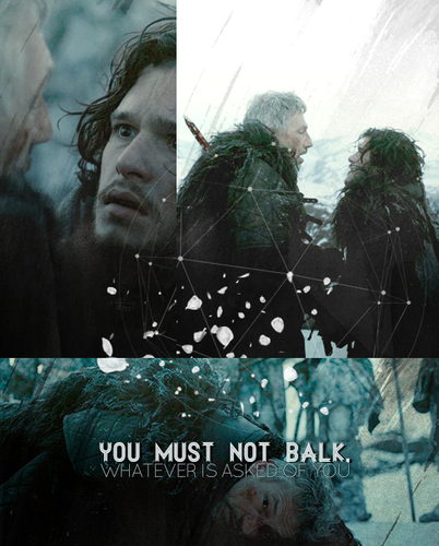 Qhorin Halfhand & Jon Snow