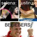 justin loves his fans